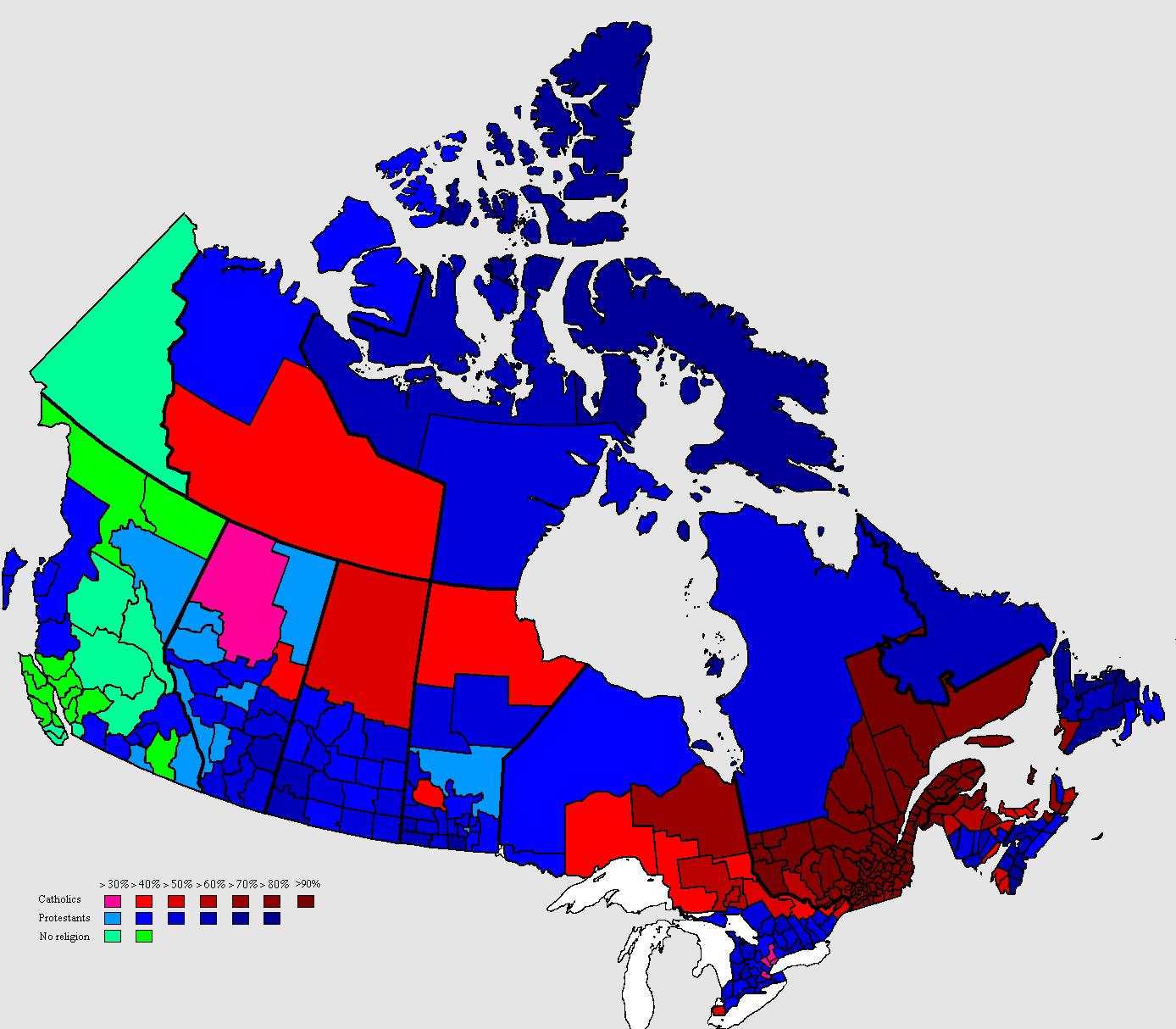Religious Map Of Canada MAPS Pinterest Religion - World religious demographic map
