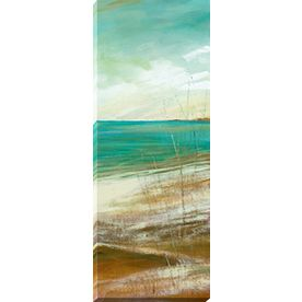 14-in W x 37-in H Frameless Wood Landscapes Print Wall Art