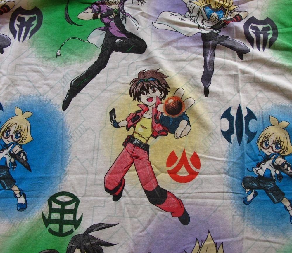 Bakugan battle brawlers twin size bed sheet flat fabric