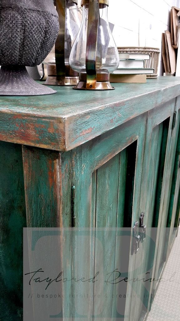 Commissioned Rustic Entrance Piece Paint Furniture Colorful Furniture Rustic Furniture