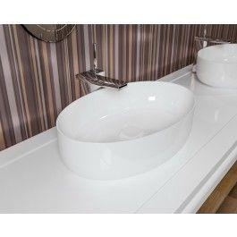 Aquatica Metamorfosi O Oval Porcelain Above Mount Bathroom Sink Vessel Sink Bathroom Sink Bathroom Sink