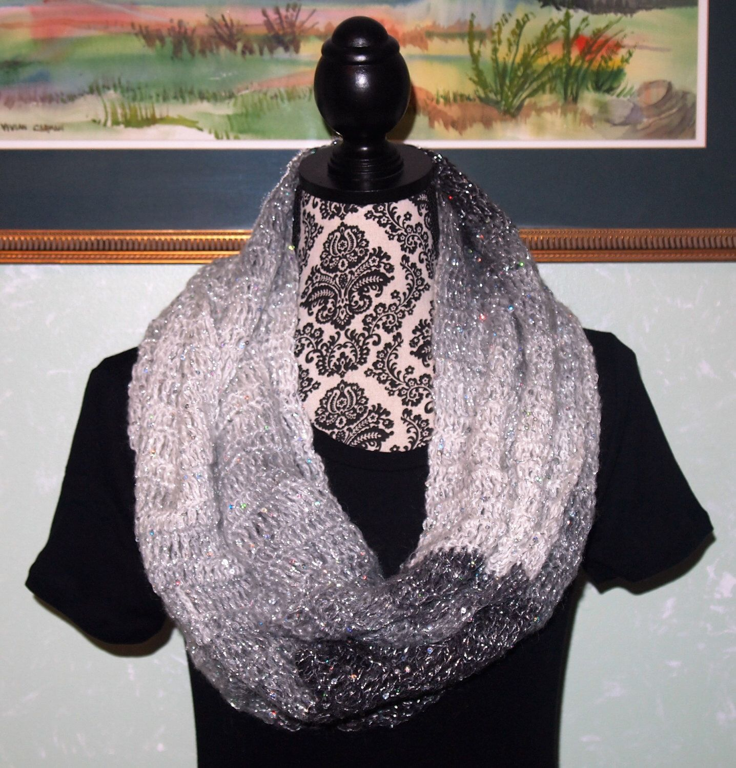 A personal favorite from my Etsy shop https://www.etsy.com/listing/91159446/grey-and-white-silver-sequin-soft-fuzzy
