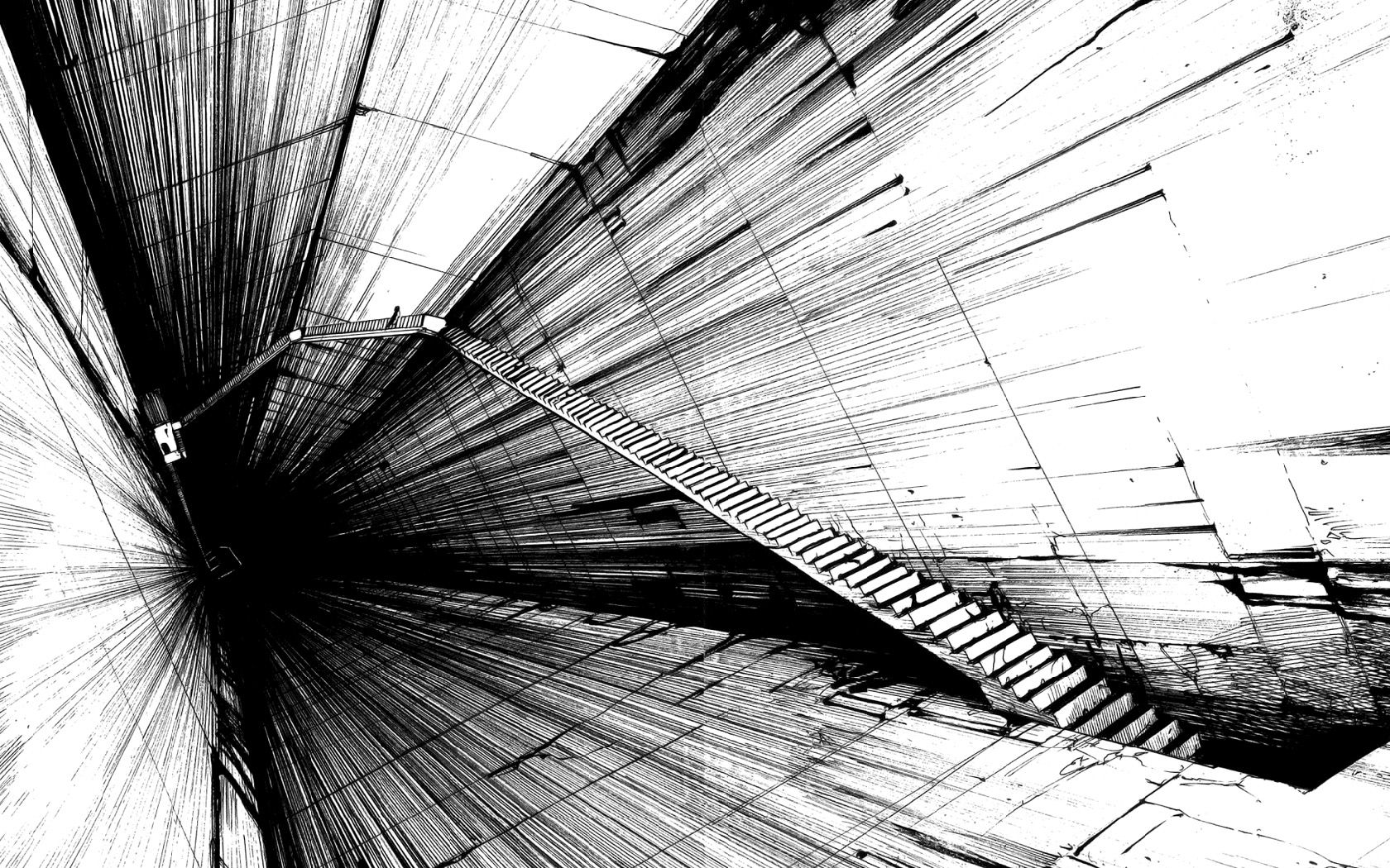 beauty wallpaper black and white abstract Lebbeus woods