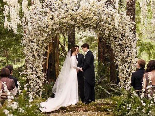 The 6 Best Movie Wedding Dresses Twilight Wedding Breaking Dawn Wedding Twilight Wedding Scene