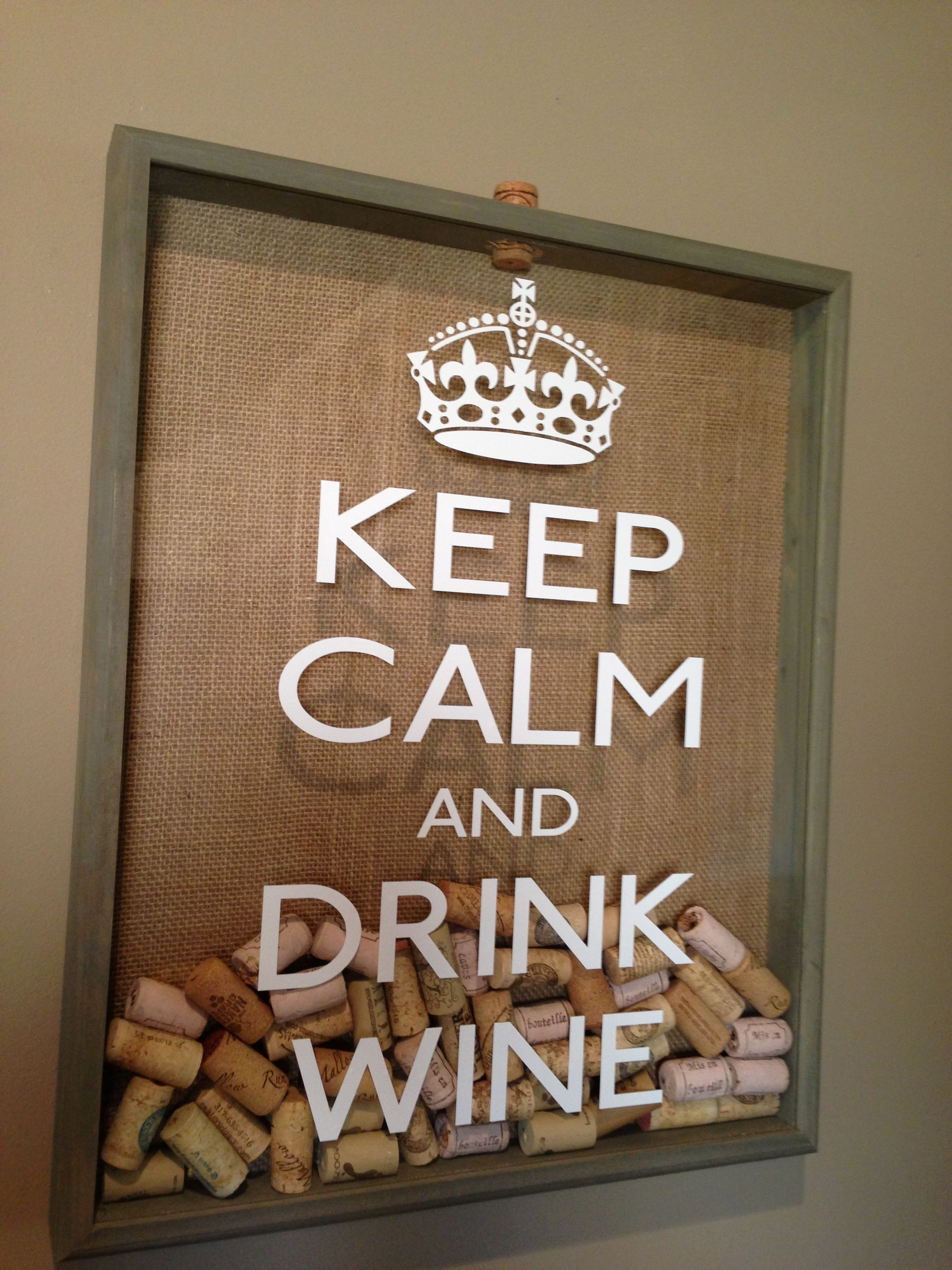 Do it yourself wine cork holder get a shadow box of your chosen do it yourself wine cork holder get a shadow box of your chosen size from amipublicfo Images