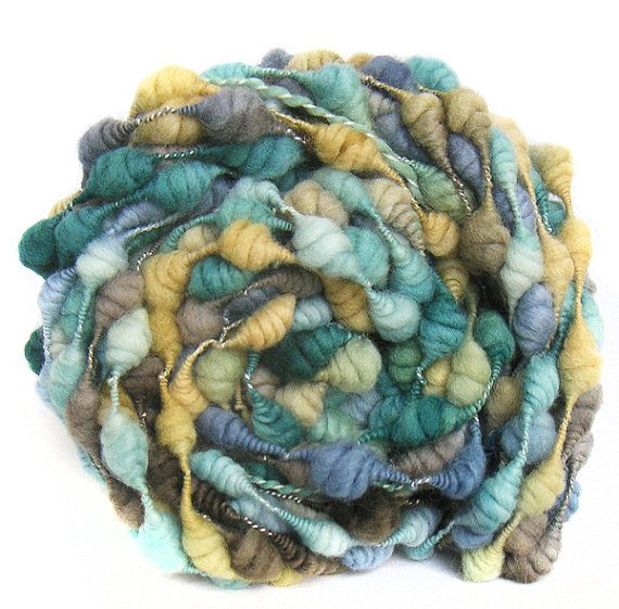Handspun Art Yarn handdyed Merino wool coils by FeltStudioUK, Leeds.