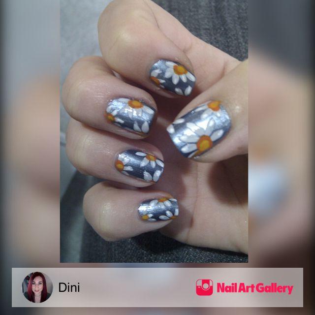 Daisy\'s by Dini via Nail Art Gallery #nailartgallery #nailart #nails ...
