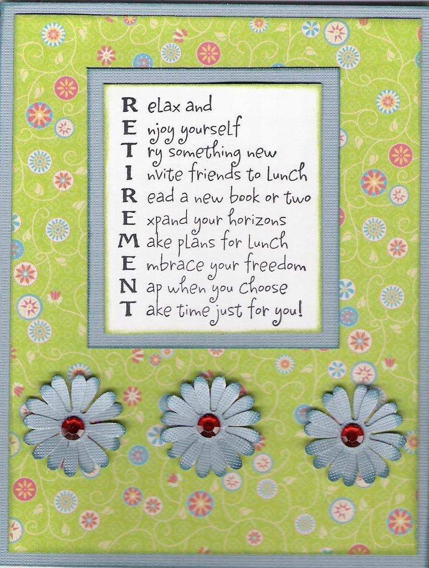 Scrapbook ideas and quotes - Retirement Scrapbook Quotes Card Retirement Investing For Retirement Http Vreinvest