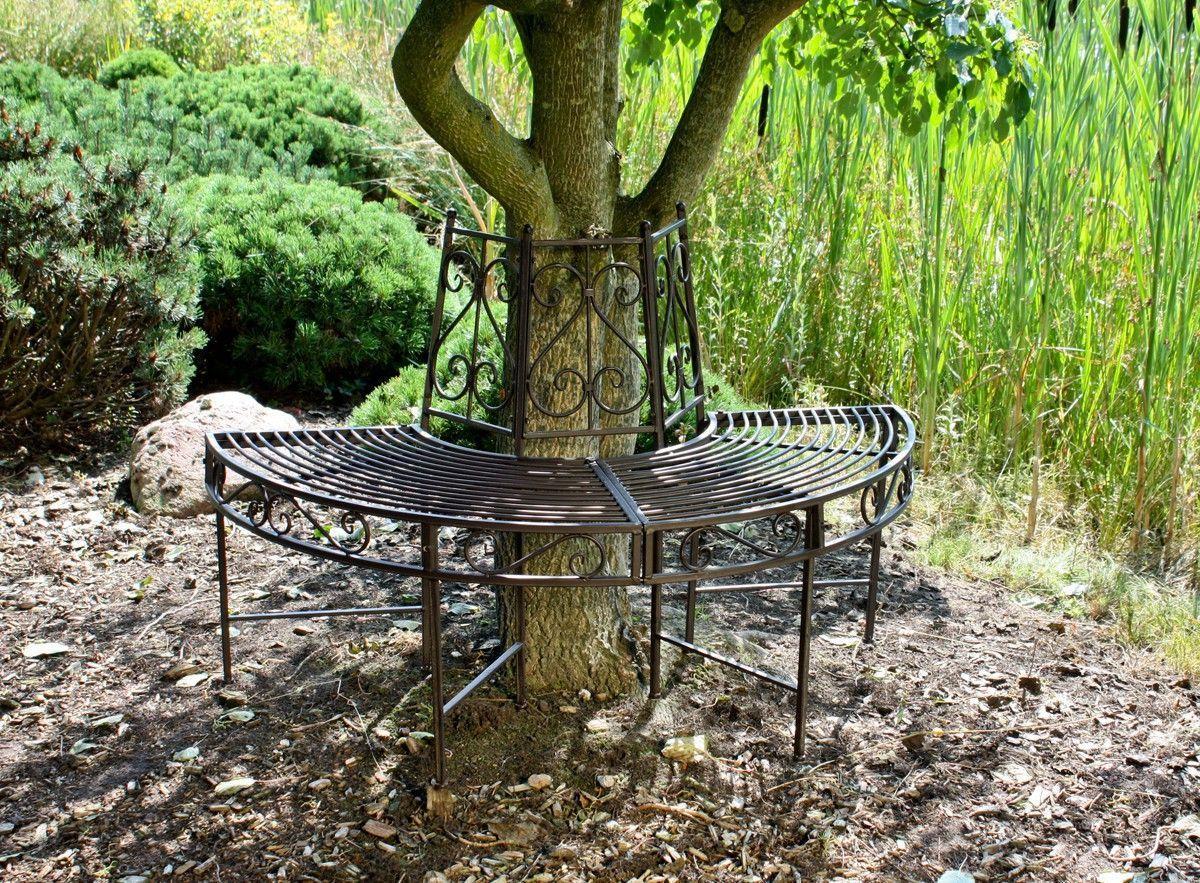 Garden Pleasure Baumbank-Hälfte aus Metall Jetzt bestellen unter ...