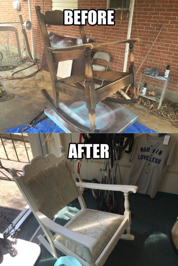 Fantastic Saved From City Dump Upcycled Rocking Chair For Sale At The Unemploymentrelief Wooden Chair Designs For Living Room Unemploymentrelieforg