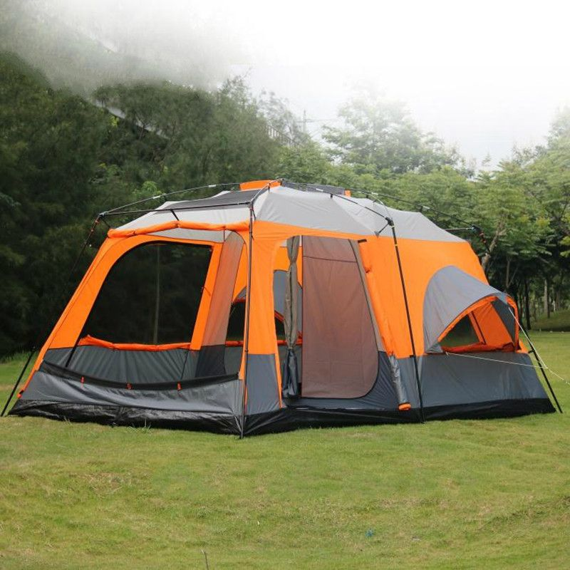 Cheap large c&ing tent Buy Quality c&ing tent waterproof directly from China c&ing tent Suppliers Person Large C&ing Tents Waterproof Double Layer ... & 8-12 Person 460*305*215cm Large Camping Tents Waterproof Double ...