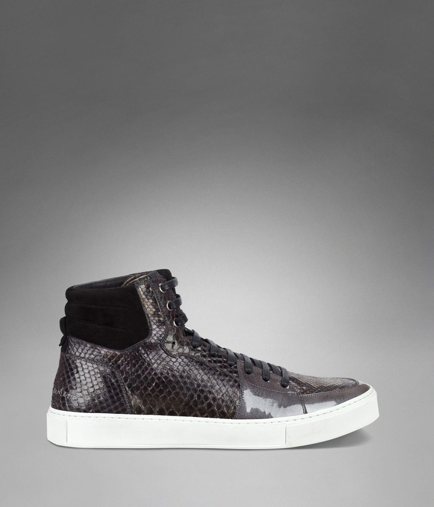 8b7e1e91 YSL Malibu High-Top Sneaker in Black Suede, Grey Patent Leather and ...