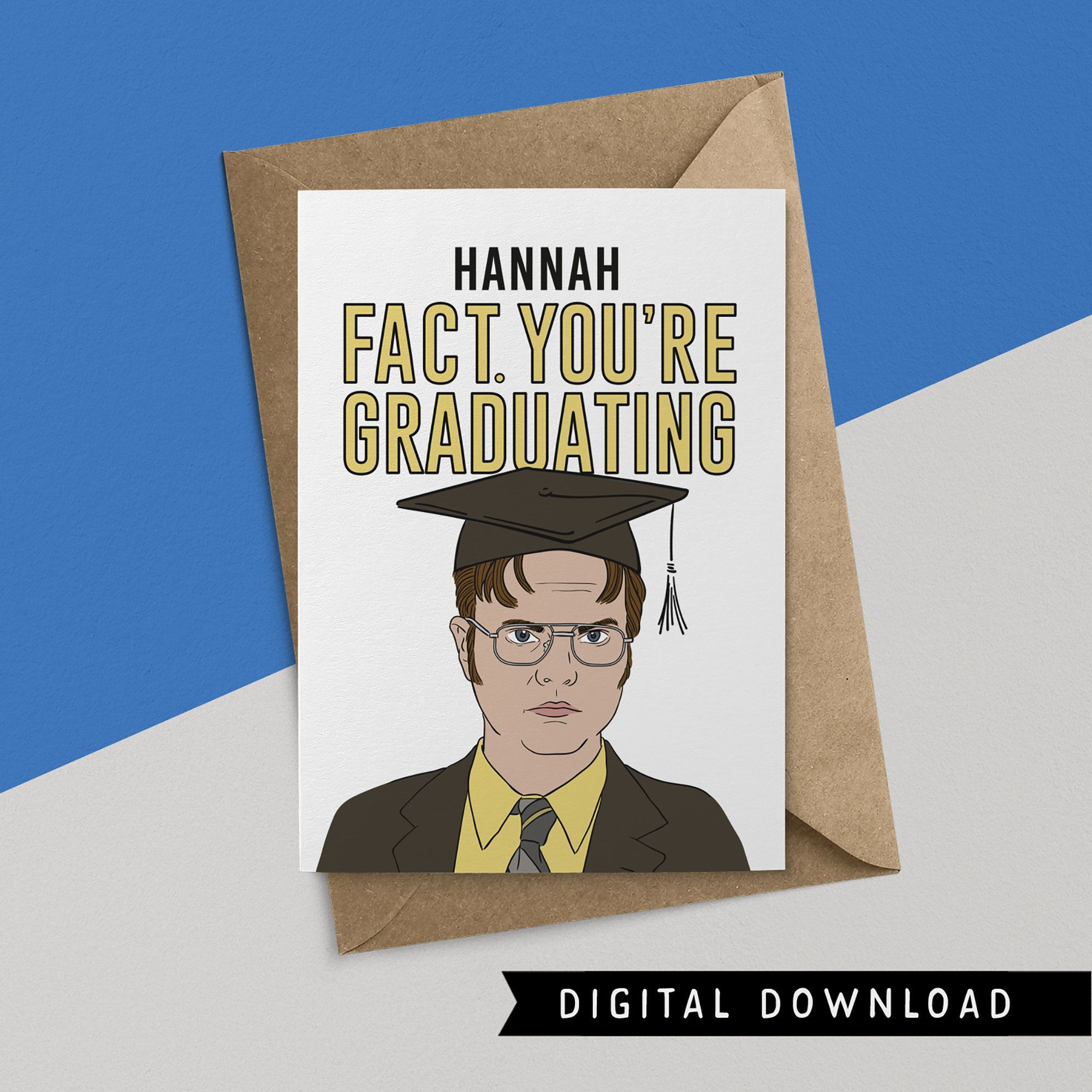 Buy 1 get 1 free funny graduation card instant download