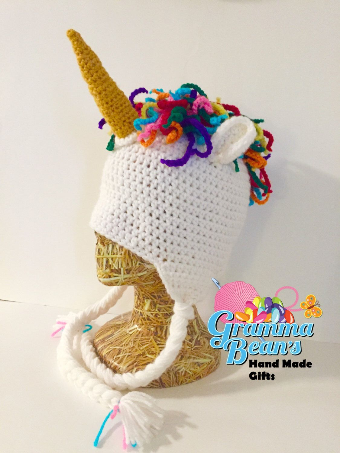 Magical Unicorn Beanie Crochet PATTERN | Learn how to | Pinterest ...