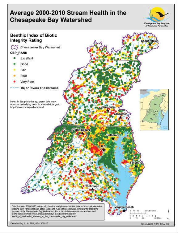 Chesapeake Watershed Map on