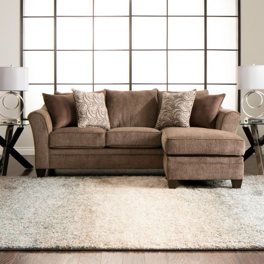 Albany Sectional Sofa Chaise In Truffle Jerome S Furniture