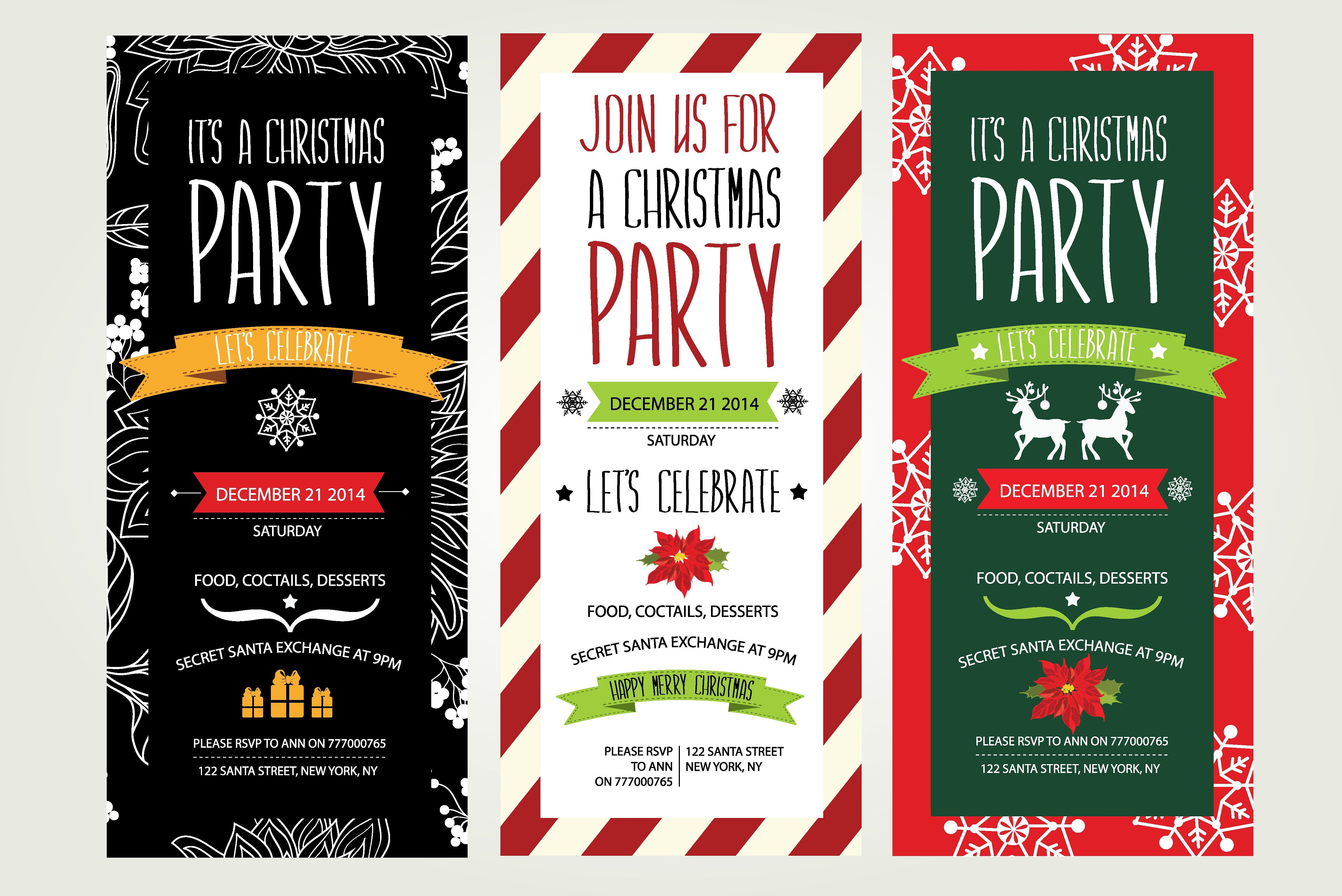 22 best 30+ Beautiful Christmas Invitation Templates for Christmas ...