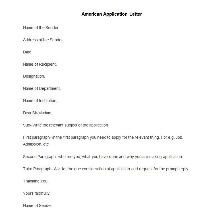 50+ Best Free Application Letter Templates \ Samples Free - application letter formats