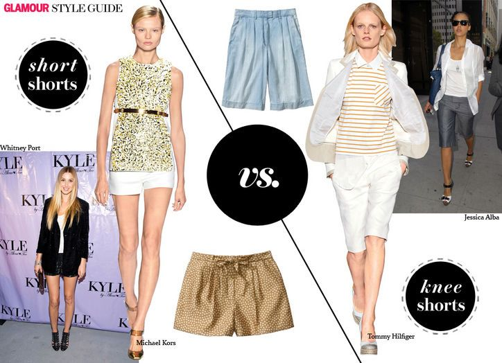 short shorts vs. bermudas - hint: know your best body bits, then choose...
