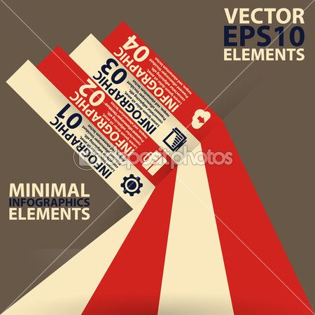 Minimal infographics. Vector Illustration vintage