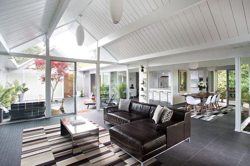 klopf architecture remodels eichler home in burlingame, california