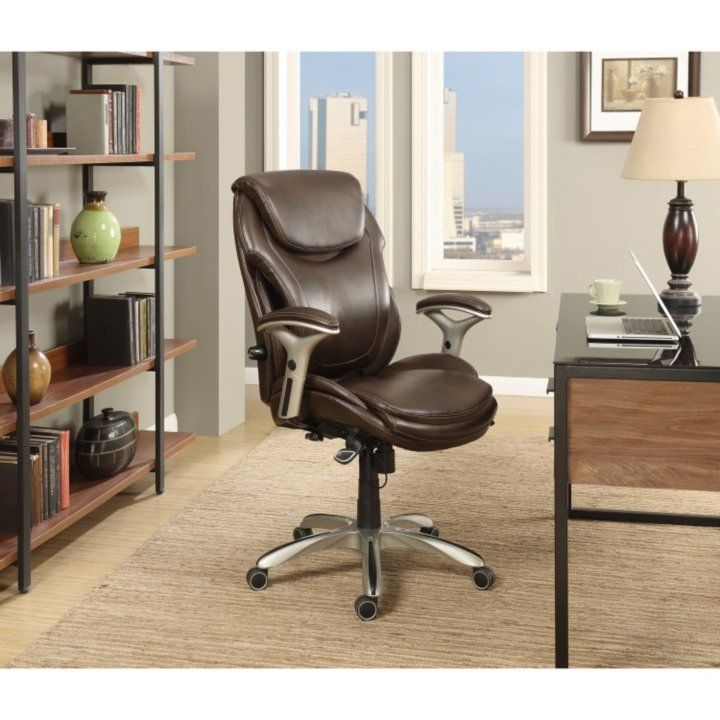 Wellness By Design Bonded Leather Air Executive Office Chair