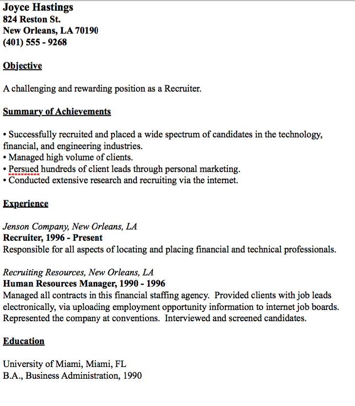 Recruiter Resume Sample Example Of Recruiter Resume  Httpresumesdesignexampleof