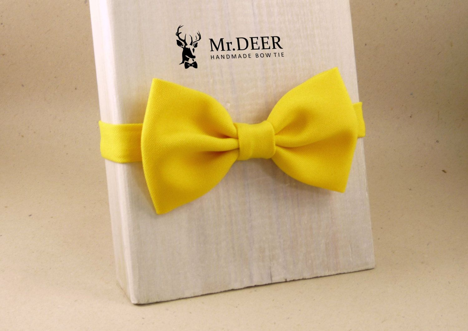 Kids Bright Yellow Bow Tie  - Ready Tied Bow Tie - Children Bow Tie - Bow tie for boy - Toddler bow tie - Mr.DEER by MrDEERbowtie on Etsy