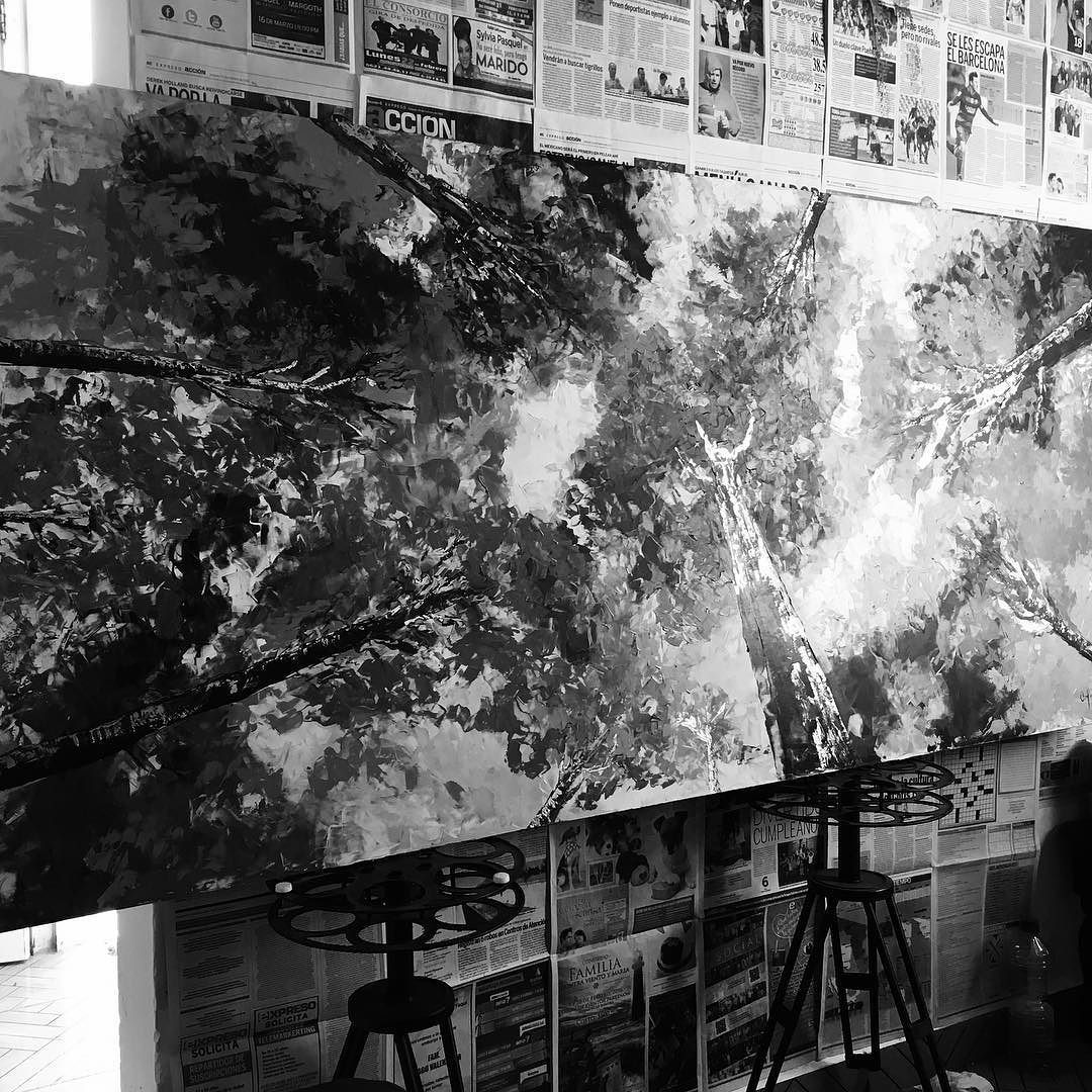 #oleo #diseño #artwork #casiterminado #oleosobremadera #art #arte #arte_of_nature #oilpainting #inspiracion #monocromatico  by annaarrieta