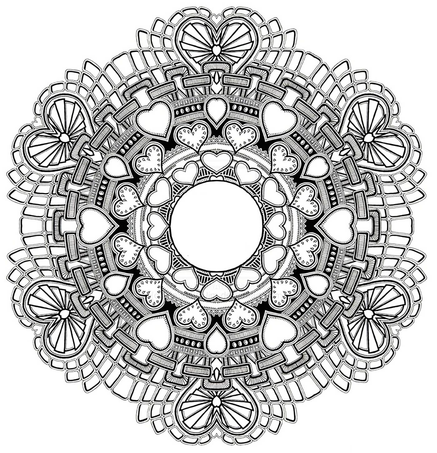 Mandala to download in pdf 3 - Image with : HeartFrom the gallery ...