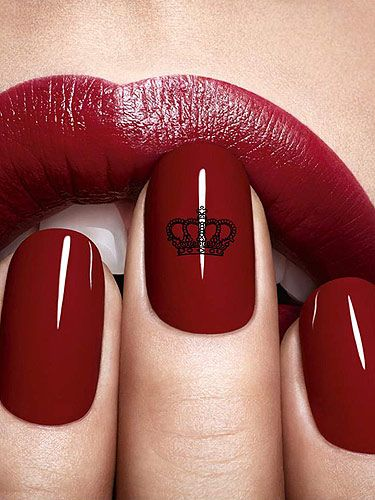 Dior Nail Art Fit For A Queen Red Nails Burgundy Lips Nails