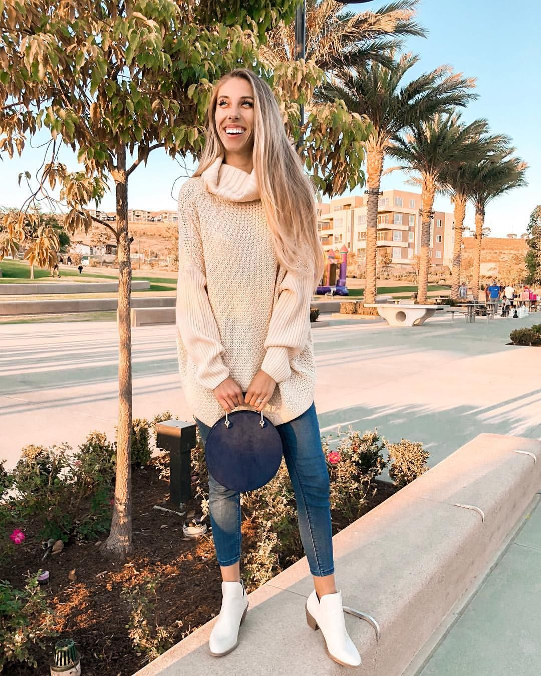 """5c6026a0d57 Jacqueline Lorraine on Instagram  """"We hope everyone had a wonderful  Thanksgiving!❤  sammiedarling93 is looking adorable in our cozy days  sweater!"""
