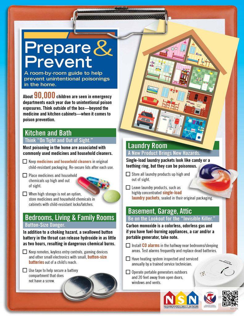 Prepare & Prevent Poisoning Checklist   CPSC.gov   Safety ...