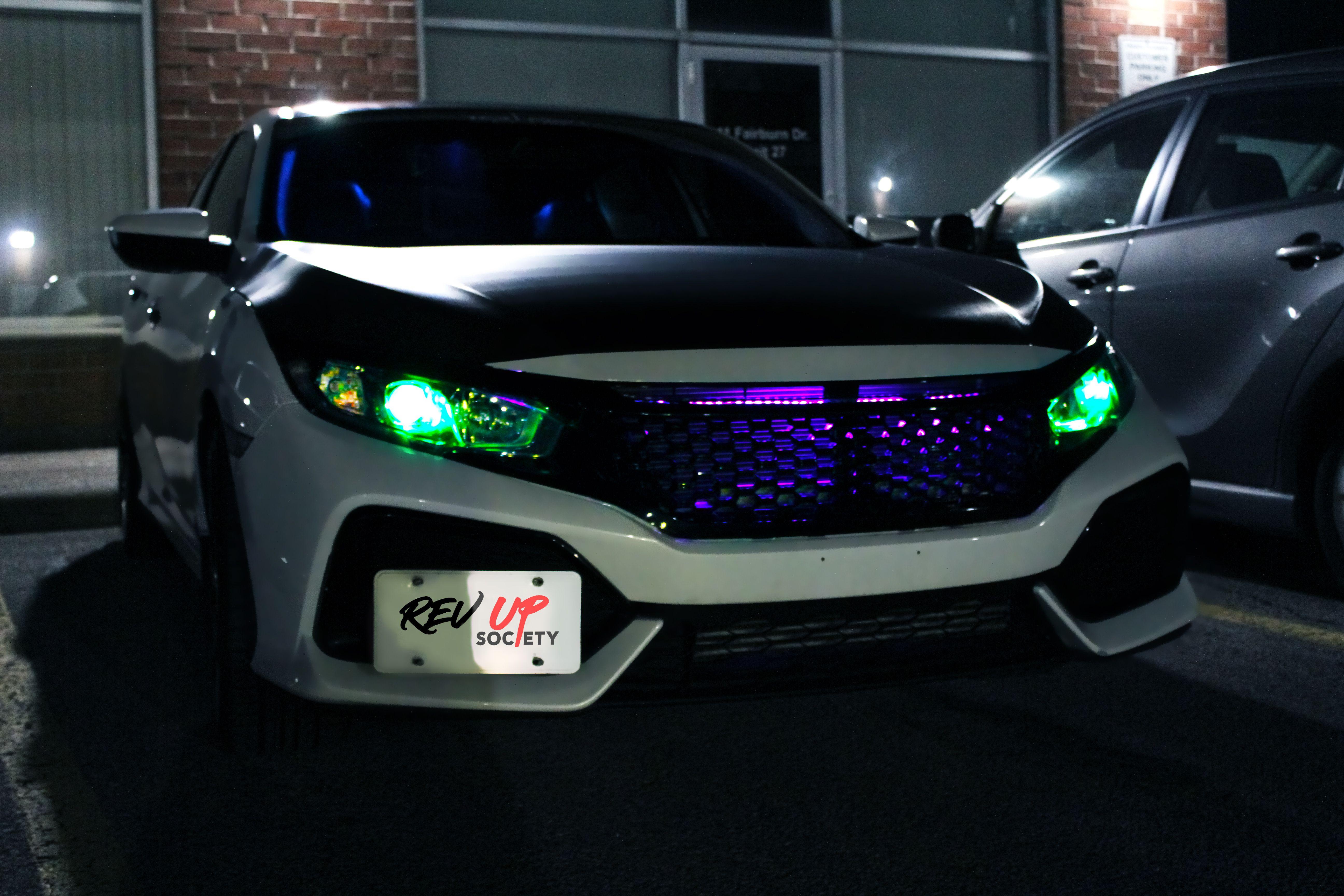 Honda Civic - Neon Lights for Summer Nights … #Boccittographics  #RevUpSociety #revupmeets #