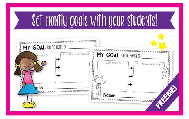 Blog Hoppin': Setting Monthly Goals {FREEBIE!} | Student ...