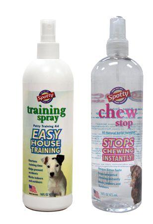 Spotty Training Spray And Chew Stop Spray Spotty Dog Train Spray
