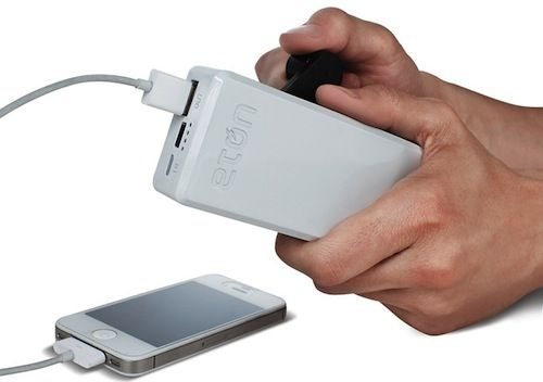 Hand-Cranked Phone Charger, A Must-Have Disaster Tool - DesignTAXI.com