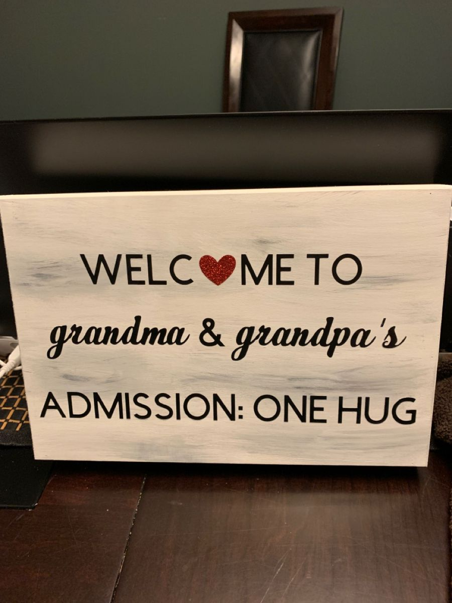 Grandparents Wooden Sign in 2020 Wooden plaques, Wooden
