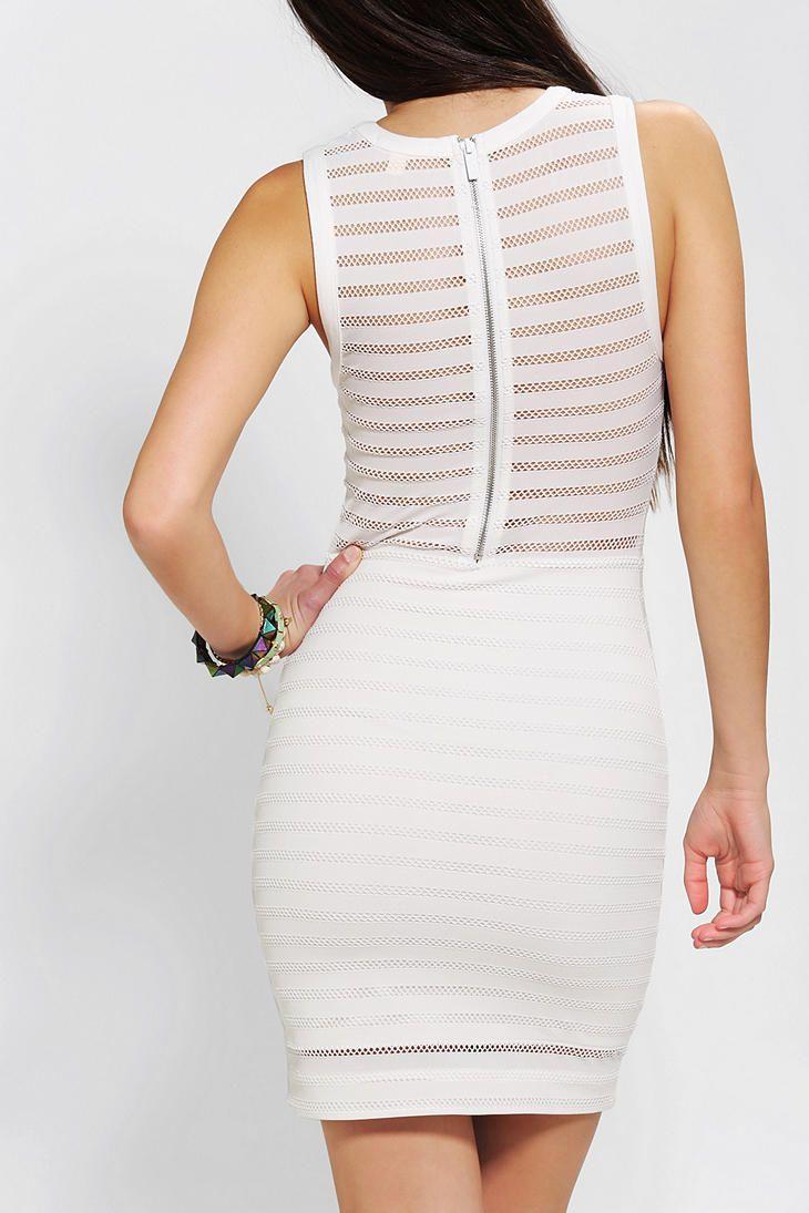 Silence Noise Illusion Stripe Bodycon Dress Striped Bodycon Dress Knitted Bodycon Dress Bodycon Dress [ 1095 x 730 Pixel ]