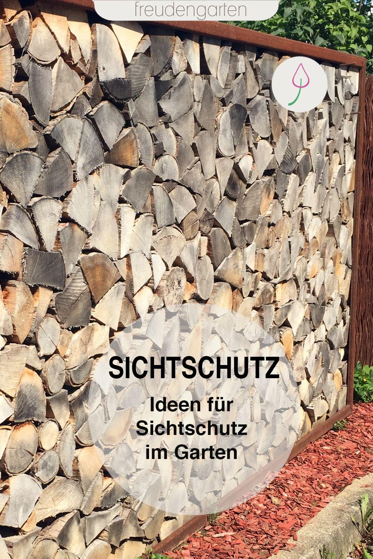Sichtschutz Im Garten Ideen Zu Materialien Und Pflanzen In 2020 Sichtschutz Garten Landschaftsbau Sichtschutz