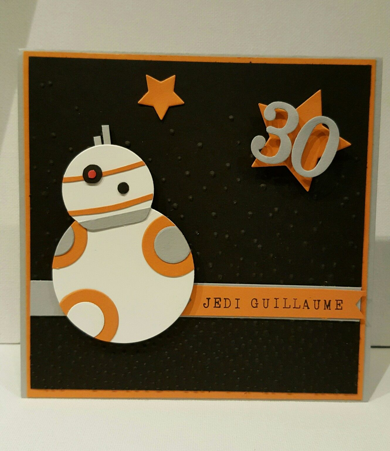 Carte anniversaire Star Wars BB8