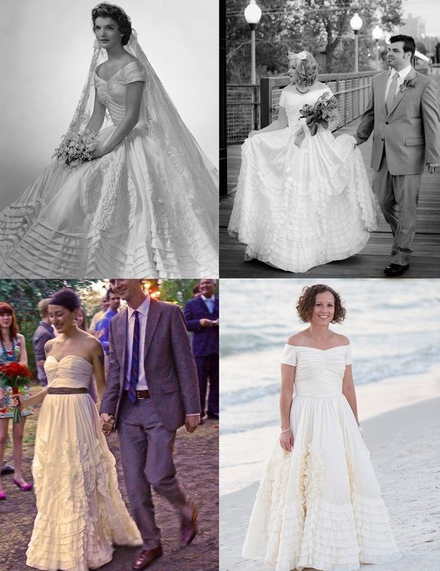 Erin Coleman Jackie Kennedy Wedding Dress Replica