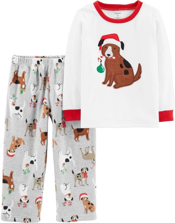 3a80490c3 Carter s Toddler Boy Christmas Dogs Top   Fleece Bottoms Pajama Set ...