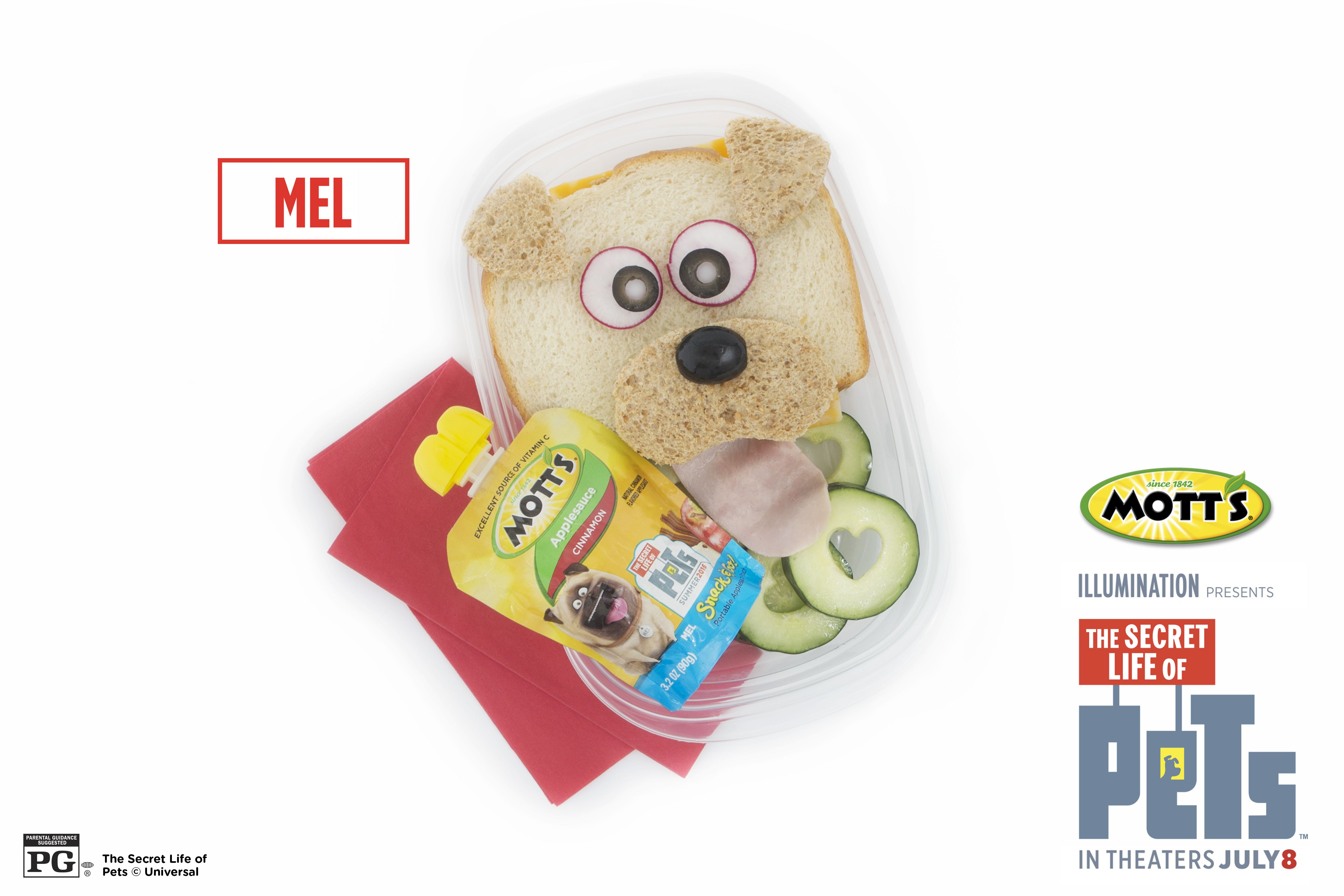 Pack A Character From The Secret Life Of Pets Into Lunch Today Mel Mott S Makes A Dynamic Combo Kids Lunch Secret Life Secret Life Of Pets
