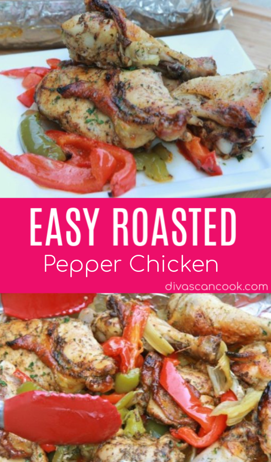 Easy Roasted Pepper Chicken Recipe Juicy Flavorful Roasted Chicken Seasoned with Fresh Herbs  Spices
