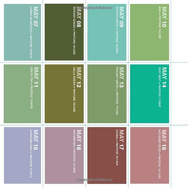 Amazon Com Colorstrology What Your Birthday Color Says About You 9781594740251 Michele Bernhardt Books It S Your Birthday Color Pantone Green