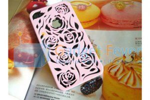 Apple iPhone 4 / 4S Rose Pattern Plastic Protective Case (Pink)
