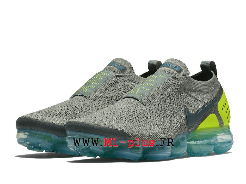 low priced add0f 8833f Nike Air VaporMax Flyknit 2. 0 Chaussures 2018 Pas Cher Pour Homme Gris  vert AH7006