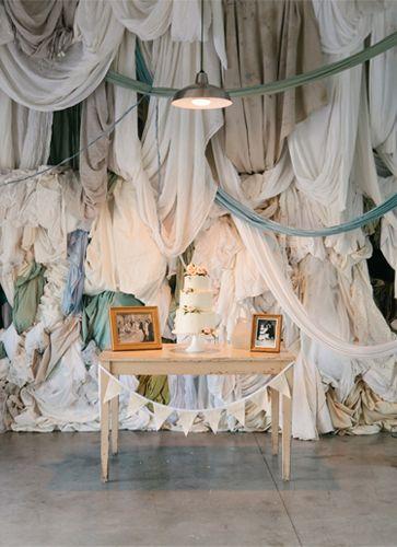 Recycled Wedding Decor Wedding Backdrop Cake Backdrops Fabric Backdrop