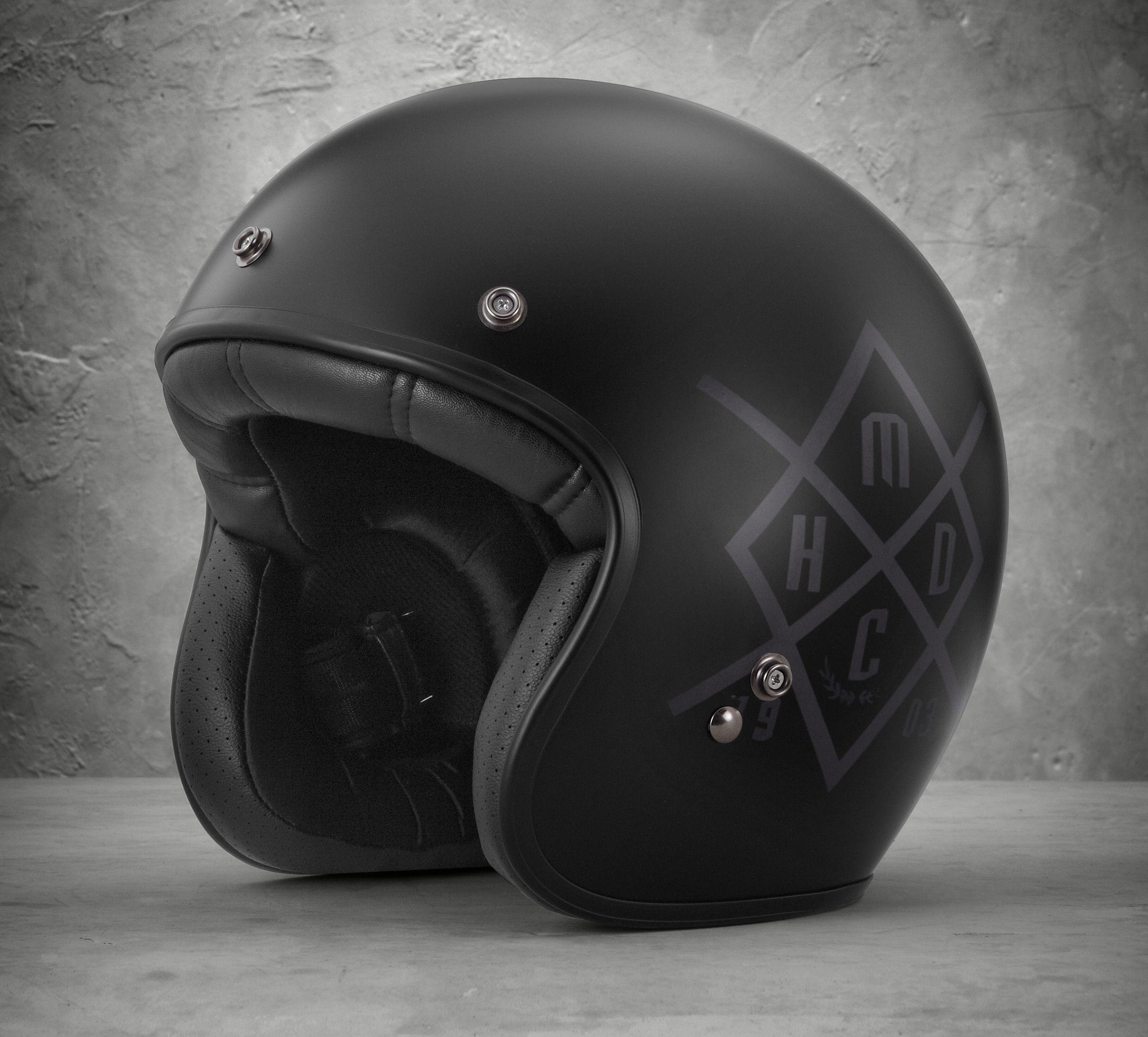 Hdmc Retro 3 4 Helmet
